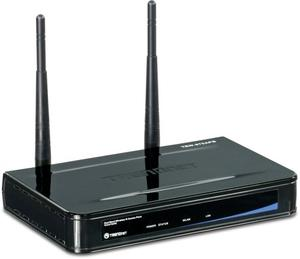 Thumbnail for the TRENDnet TEW-670AP V1.xR router with 300mbps WiFi, 1 100mbps ETH-ports and                                          0 USB-ports