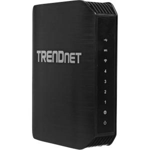 Thumbnail for the TRENDnet TEW-752DRU router with 300mbps WiFi, 4 Gigabit ETH-ports and                                          0 USB-ports