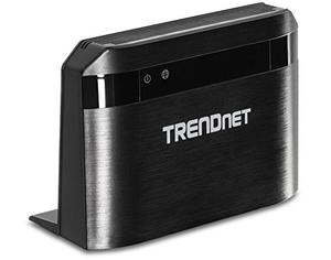 Thumbnail for the TRENDnet TEW-810DR router with Gigabit WiFi, 4 100mbps ETH-ports and                                          0 USB-ports