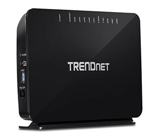 Thumbnail for the TRENDnet TEW-816DRM router with Gigabit WiFi, 4 100mbps ETH-ports and                                          0 USB-ports