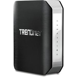 Thumbnail for the TRENDnet TEW-818DRU V1.0R router with Gigabit WiFi, 4 N/A ETH-ports and                                          0 USB-ports