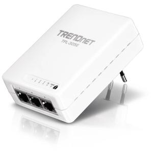 Thumbnail for the TRENDnet TPL-305E router with No WiFi, 3 100mbps ETH-ports and                                          0 USB-ports