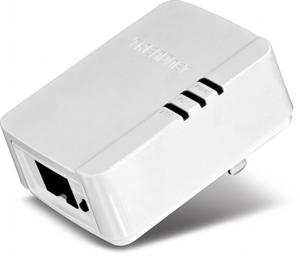 Thumbnail for the TRENDnet TPL-308E router with No WiFi, 1 100mbps ETH-ports and                                          0 USB-ports