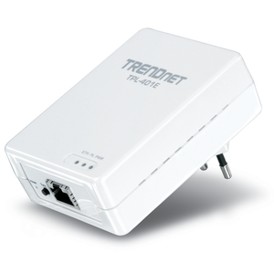Thumbnail for the TRENDnet TPL-401E router with No WiFi, 1 N/A ETH-ports and                                          0 USB-ports