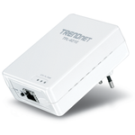 The TRENDnet TPL-401E router with No WiFi, 1 N/A ETH-ports and                                                  0 USB-ports