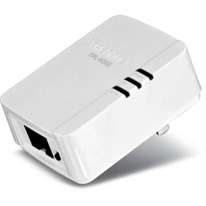 Thumbnail for the TRENDnet TPL-406E router with No WiFi, 1 100mbps ETH-ports and                                          0 USB-ports