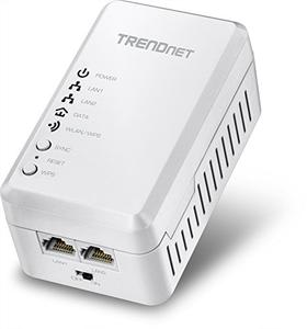 Thumbnail for the TRENDnet TPL-410AP router with 300mbps WiFi, 2 100mbps ETH-ports and                                          0 USB-ports