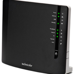 The Technicolor TG788vn v2 router with 300mbps WiFi, 4 100mbps ETH-ports and                                                  0 USB-ports