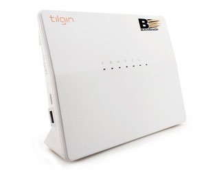 Thumbnail for the Tilgin HG2381 router with Gigabit WiFi, 4 N/A ETH-ports and                                          0 USB-ports