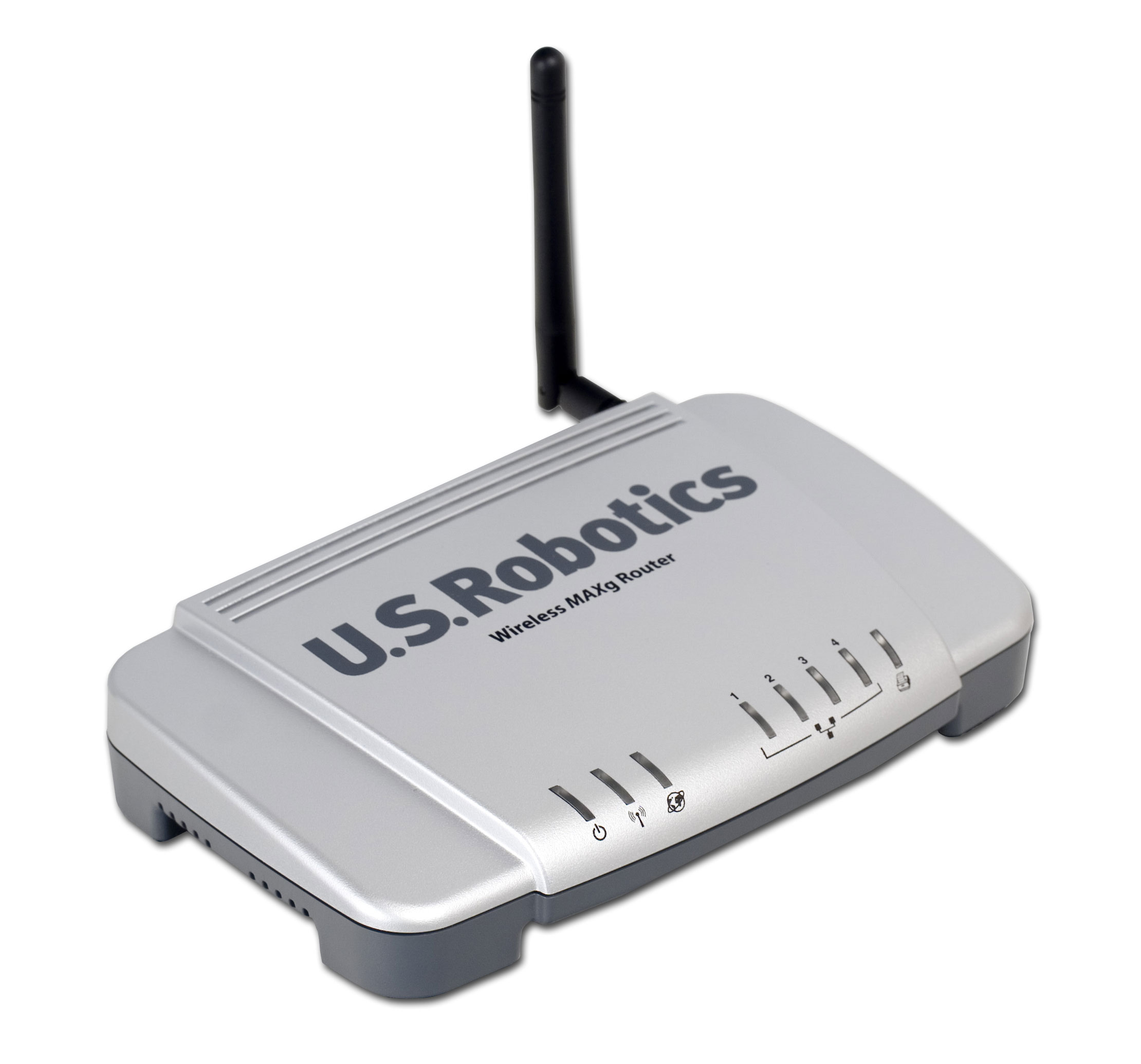 The USRobotics USR5461 router with 54mbps WiFi, 4 100mbps ETH-ports and ...