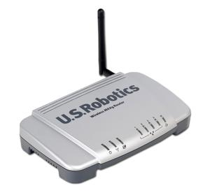 Thumbnail for the USRobotics USR5461 router with 54mbps WiFi, 4 100mbps ETH-ports and                                          0 USB-ports