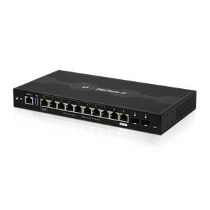 Thumbnail for the Ubiquiti Networks EdgeRouter 12 (ER-12) router with No WiFi, 8 N/A ETH-ports and                                          0 USB-ports