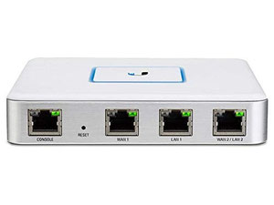 Thumbnail for the Ubiquiti Networks UniFi Security Gateway router with No WiFi, 2 N/A ETH-ports and                                          0 USB-ports