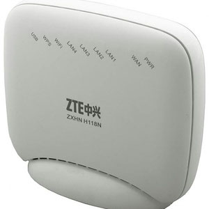 Thumbnail for the ZTE ZXHN H118Na v2.3 router with 300mbps WiFi, 4 100mbps ETH-ports and                                          0 USB-ports