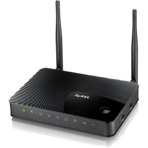 Thumbnail for the ZyXEL NBG4615 v1 router with 300mbps WiFi, 4 Gigabit ETH-ports and                                          0 USB-ports
