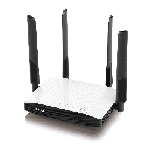 The ZyXEL NBG6604 router with Gigabit WiFi, 4 100mbps ETH-ports and                                                  0 USB-ports