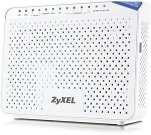 Thumbnail for the ZyXEL P-2812HNU-F3 router with 300mbps WiFi, 4 Gigabit ETH-ports and                                          0 USB-ports