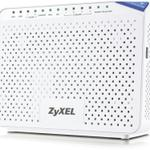The ZyXEL P-2812HNU-F3 router with 300mbps WiFi, 4 Gigabit ETH-ports and                                                  0 USB-ports