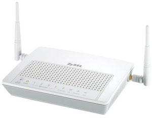 Thumbnail for the ZyXEL P-661HNU-F3 router with 300mbps WiFi, 4 100mbps ETH-ports and                                          0 USB-ports