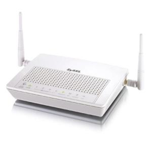 Thumbnail for the ZyXEL PK5000Z (Qwest) router with 54mbps WiFi, 4 100mbps ETH-ports and                                          0 USB-ports