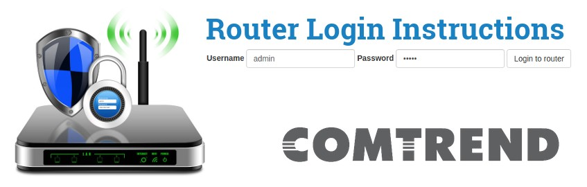 Comtrend Login Instructions Router Web Interface