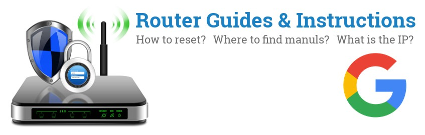 Image of a Google router with 'Router Reset Instructions'-text and the Google logo