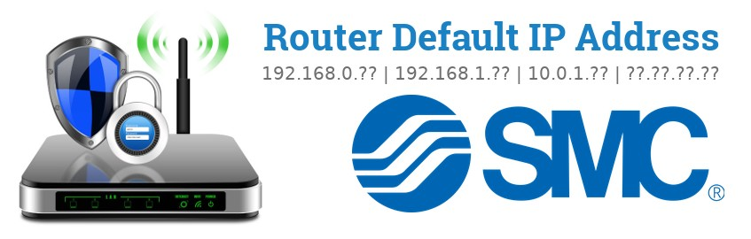 Image of a SMC router with 'Router Default IP Addresses' text and the SMC logo