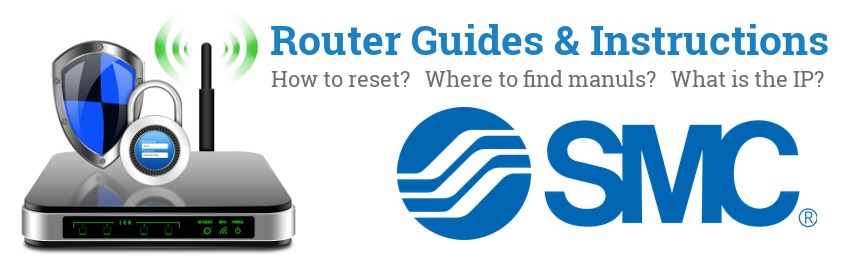 Image of a SMC router with 'Router Reset Instructions'-text and the SMC logo