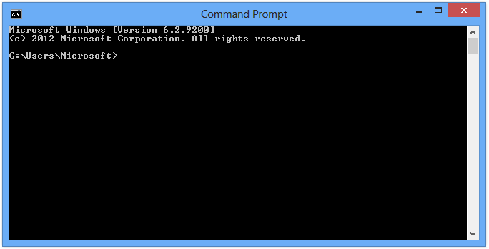 command prompt network address