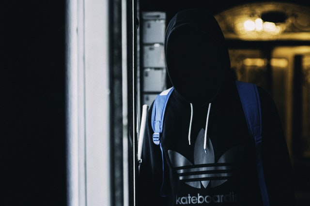 a hooded perso without visible face