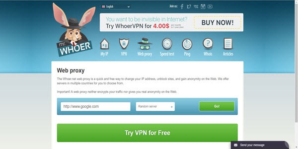 Whoer - What's my IP address, how to find and check my IP address.