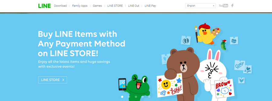 Line's main page.