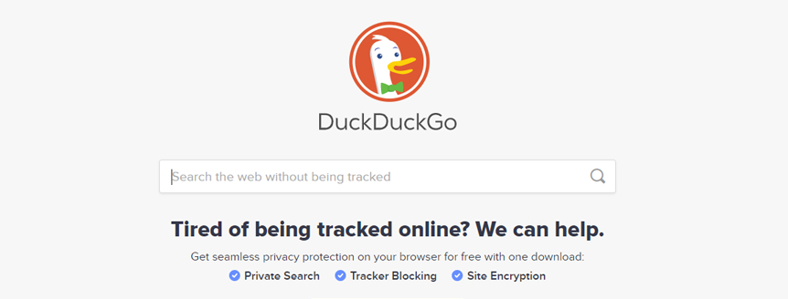 DuckDuck Go search