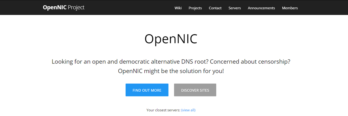 OpenNIC DNS